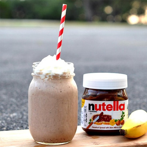 Nutella-SMOOTHIE--maken