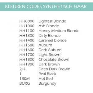 HAIREXTENSIONS-KLEUR-CODES-SYNTHETISCH-HAIR