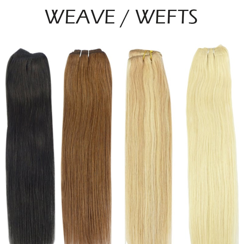 5ae1fdac9a9 Human Weave Hair, Lightest Blonde #60