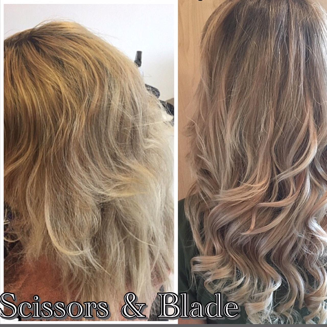 scissors-blade ash blonde