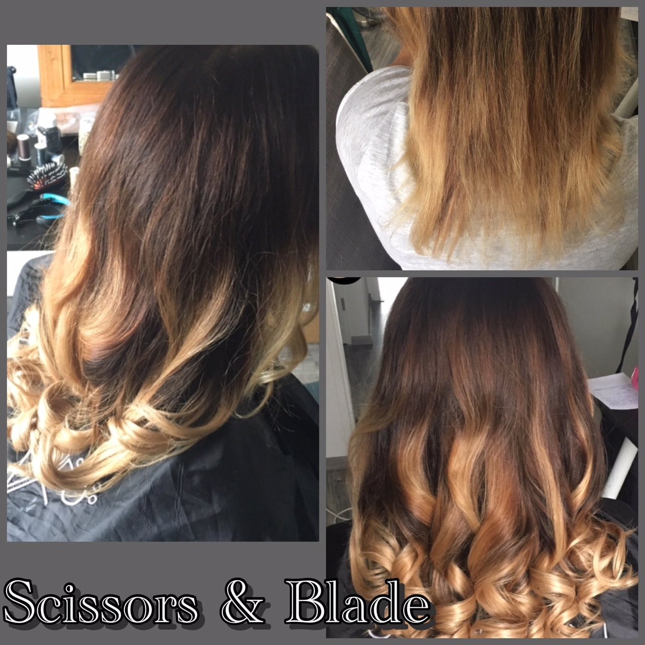 scissors-blade hair extensions