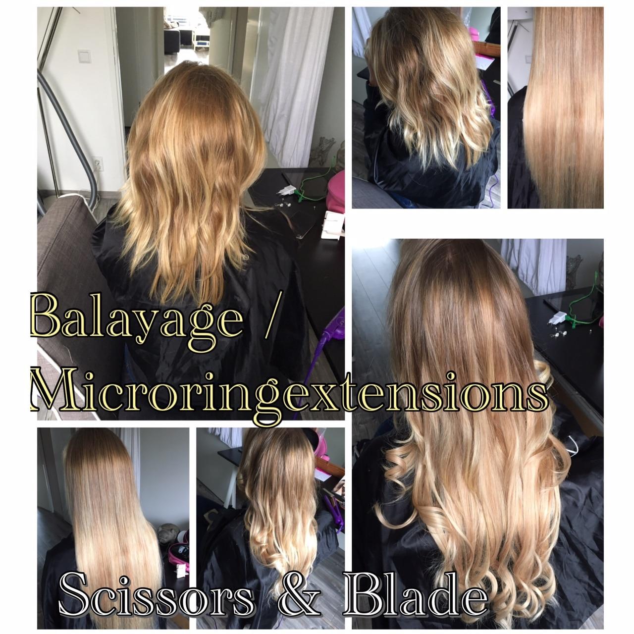 scissors-blade hairweave