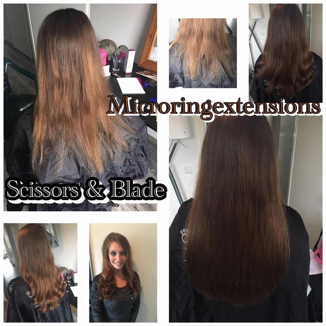 scissors-blade weave hair