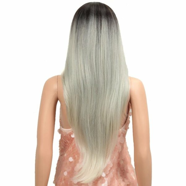 Platinum wig back glamour your hair 1