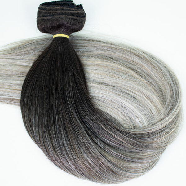 Silver-Ombre-clip-in-extensions
